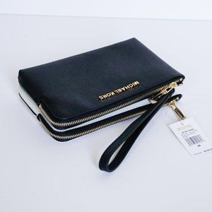 Michael Kors L DBL GSSET Wristlet Blk/Optic White